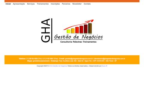 Screenshot of Home Page ghagestaodenegocios.com.br - GHA  |  Home - captured Sept. 25, 2015