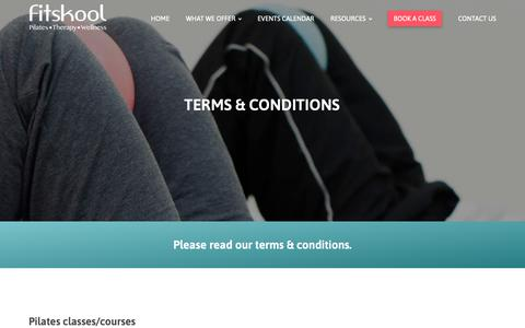 Screenshot of Terms Page fitskool.com - Terms & Conditions - Fitskool - captured Oct. 10, 2018