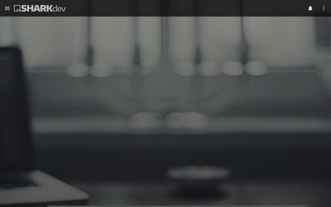 Screenshot of Home Page sharkdev.com.br - SHARKDEV - captured July 20, 2016