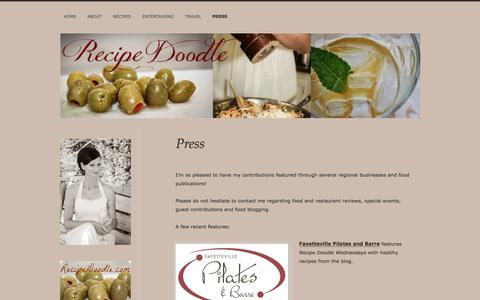 Screenshot of Press Page wordpress.com - Press | Recipe Doodle - captured May 6, 2016