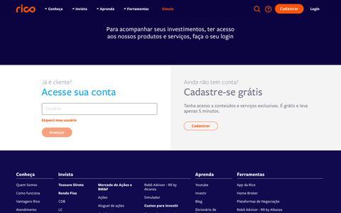 Screenshot of Login Page rico.com.vc - Login - captured Nov. 24, 2019