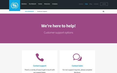 Customer Support | SPS Commerce