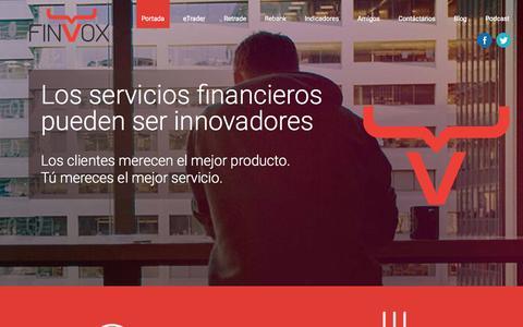 Screenshot of Home Page finvox.com - Finvox   Innovación Financiera - captured Jan. 21, 2015