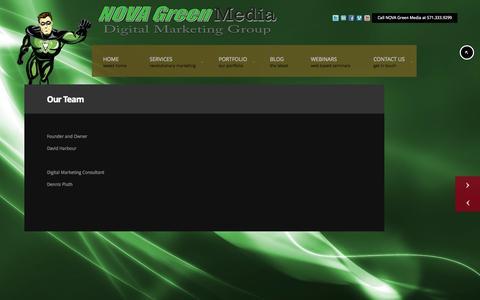 Screenshot of Team Page novagreenmedia.com - Our Team - NOVA Green Media Digital Marketing Group - NOVA Green Media Digital Marketing Group - captured Oct. 7, 2014