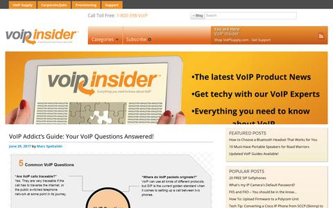 Screenshot of Blog voipsupply.com - VoIP Insider - Everything You Need to Know About VoIP - captured June 30, 2017