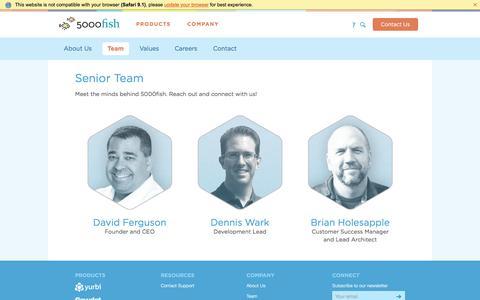 Screenshot of Team Page 5000fish.com - Meet the 5000fish Senior Team - captured Oct. 18, 2017