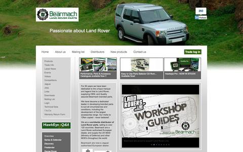Screenshot of Home Page bearmach.com - Bearmach - captured Jan. 27, 2015