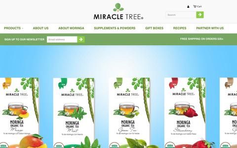 Screenshot of Products Page miracletree.co - Collections                           | Miracle Tree - captured June 20, 2016