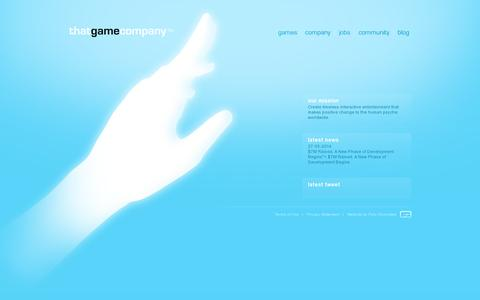 Screenshot of Home Page thatgamecompany.com - thatgamecompany | TGC - captured July 17, 2014