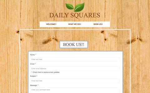 Screenshot of Privacy Page dailysquares.com - Contact - captured July 31, 2016