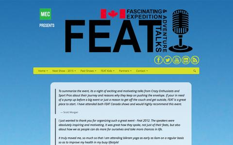 Screenshot of Testimonials Page featcanada.ca - FEAT Canada | Testimonials - captured Sept. 30, 2014