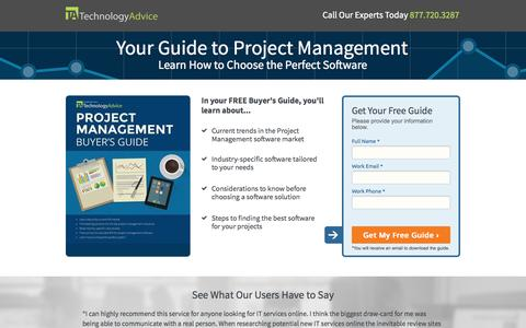 Screenshot of Landing Page technologyadvice.com - 2014 Project Management Buyer's Guide | TechnologyAdvice - captured Oct. 27, 2014
