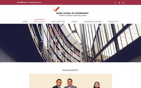 Screenshot of Team Page rsog.com.my - RSOG Management Team - captured Oct. 18, 2018