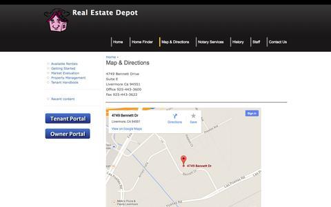 Screenshot of Maps & Directions Page realestatedepot.biz - Map & Directions | Real Estate Depot - captured Oct. 9, 2014