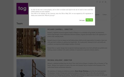 Screenshot of Team Page togstudio.co.uk - Tog Studio   » Team - captured Sept. 30, 2014