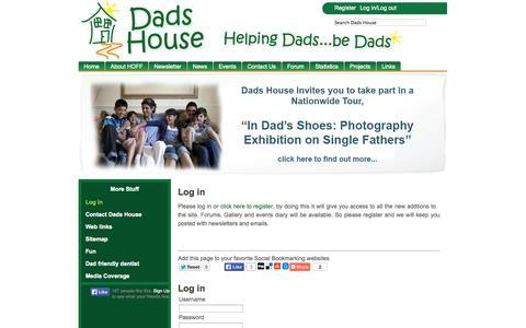 Screenshot of Login Page dadshouse.org.uk - Log in - captured Sept. 30, 2014
