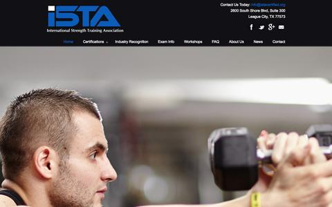Screenshot of Home Page istacertified.org - Home « ISTA Certified - captured Sept. 19, 2014