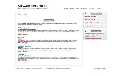 Screenshot of Team Page stewartandpartners.com - Stewart and Partners - Meet the Partners - captured Nov. 18, 2016