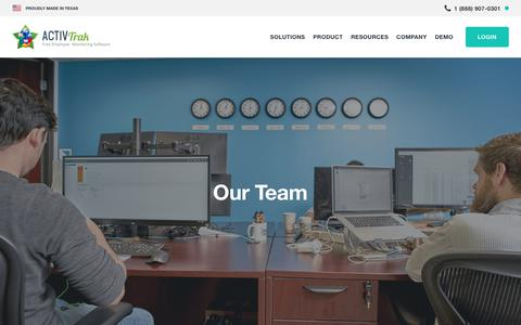 Screenshot of About Page activtrak.com - Meet Our Team | ActivTrak - captured Sept. 22, 2018