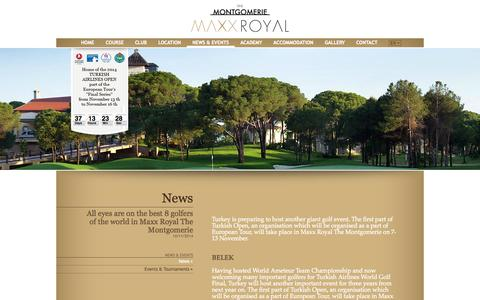 Screenshot of Press Page montgomeriemaxxroyal.com - News - captured Oct. 6, 2014