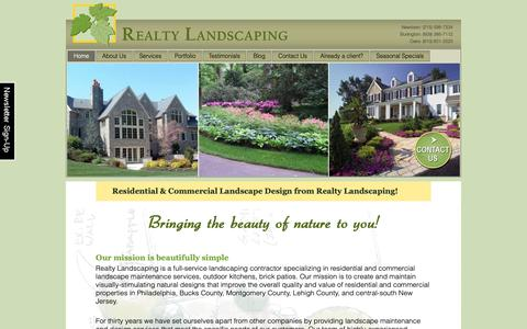 Screenshot of Home Page realtylandscaping.com - PA-NJ Residential-Commercial Landscape Maintenance & Design - captured Oct. 20, 2018