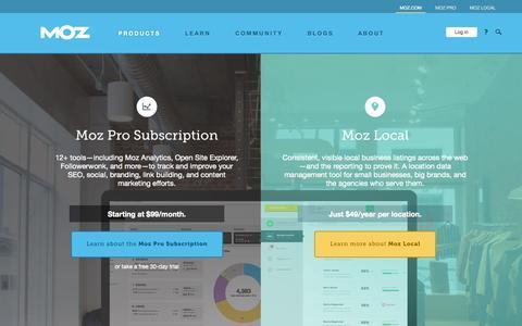 Screenshot of Trial Page moz.com - Software for Managing Inbound Marketing and Local SEO - Moz - captured Sept. 16, 2014