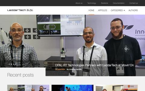 Screenshot of Blog leddartech.com - Leddar Sensor Technology: LeddarTech Blog - captured July 12, 2018