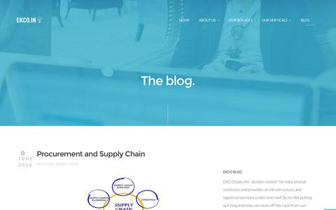 Screenshot of Blog ekco.in - Blog Ekco India - Education Supermarket | Education Management Solutions | Education Infrastructure India | School Equipment - captured Oct. 1, 2014