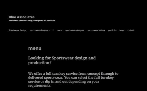 Screenshot of Menu Page blueassociates.co.uk - menu – Blue Associates - captured July 27, 2016
