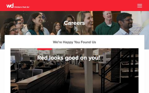 Screenshot of Jobs Page wdpartners.com - Careers – WD Partners - captured Sept. 20, 2018