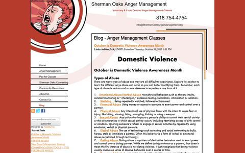 Screenshot of Blog shermanoaksangermanagement.org - Blog - Anger Management Classes - captured Sept. 20, 2018