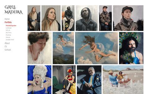 Screenshot of Team Page gaylemadeira.com - Portraits/Figurative | GAYLE MADEIRA - captured Sept. 27, 2018