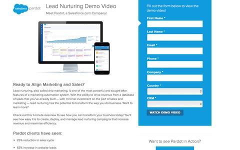 Screenshot of Landing Page pardot.com - Pardot Demo Video - captured July 16, 2016
