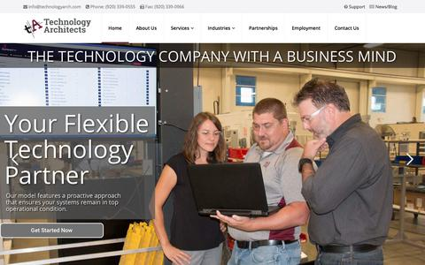 Screenshot of Home Page technologyarch.com - Home - Technology Architects - captured Sept. 24, 2018