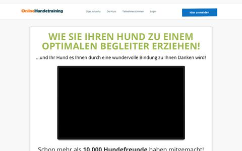 Screenshot of Home Page online-hundetraining.de - Online Hundetraining - Die Online Hundeschule - captured July 3, 2017