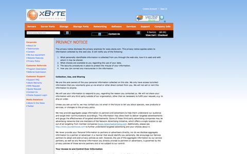 Privacy Policy - xByte Technologies