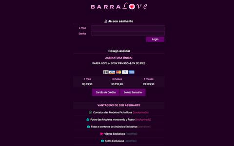 Screenshot of Login Page barralove.net - Conteúdo exclusivo para Assinantes - Barra Love - captured Sept. 22, 2018
