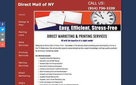 Screenshot of Home Page directmailofny.com - Direct Mail of NY Home - captured Aug. 7, 2018