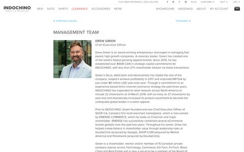 Screenshot of Team Page indochino.com - Management | Indochino - captured April 9, 2018