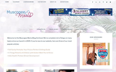 Screenshot of Blog muscogeemoms.com - BLOG Archives - Muscogee Moms | Local Events, Parenting Tips & Resources for the Chattahoochee Valley - captured Dec. 12, 2018