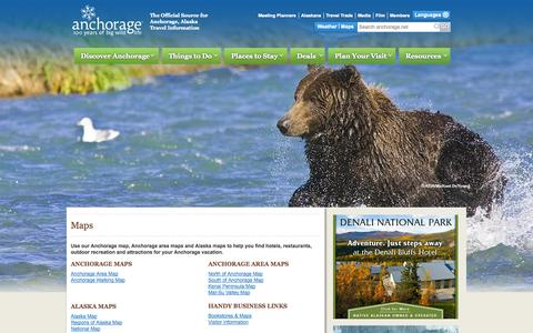Screenshot of Maps & Directions Page anchorage.net - Maps | Visit Anchorage - captured Oct. 27, 2014