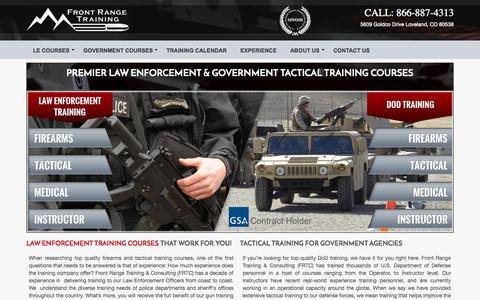 Screenshot of Home Page frontrangetraining.com - Denver, CO & National Law Enforcement & Firearms Training | Front Range Training - captured Jan. 24, 2015