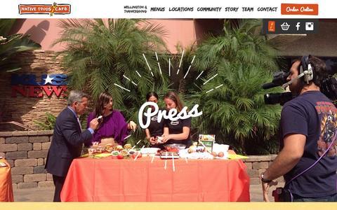 Screenshot of Press Page nativefoods.com - press - Native Foods Café - captured Nov. 5, 2014