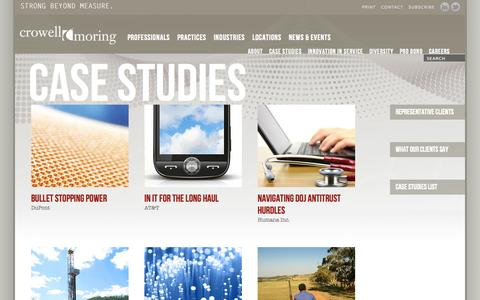 Screenshot of Case Studies Page crowell.com - Case Studies | Crowell & Moring - captured Oct. 3, 2014