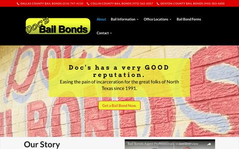 Screenshot of About Page docsbailbonds.com - About | - captured June 4, 2017