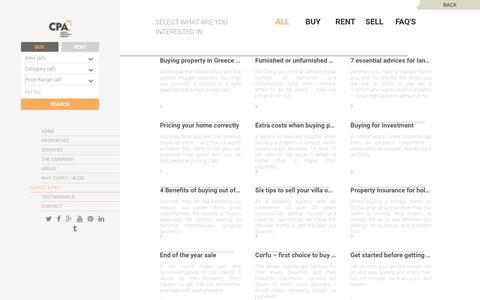 Screenshot of FAQ Page cpacorfu.com - FAQ   Corfu Property Agency - captured May 12, 2017