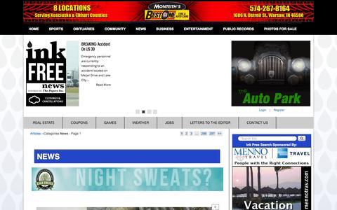Screenshot of Press Page inkfreenews.com - News | InkFreeNews - captured Nov. 4, 2014