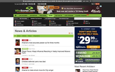 Screenshot of Press Page whoscored.com - News & Articles - captured Dec. 2, 2015