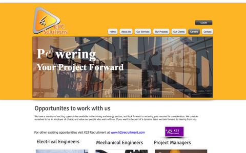 Screenshot of Jobs Page epcsolutions.com.au - epc solutions, electrical contractors, project management, electrical project managers, | Careers - captured Sept. 25, 2018