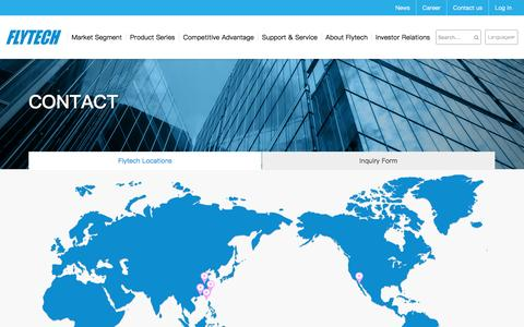 Screenshot of Contact Page Locations Page flytech.com - Flytech Technology Co., Ltd - captured Nov. 25, 2016